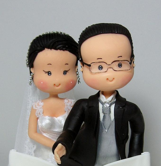 Topo de bolo fofinho e personalizado noivos apaixonados for O jardineiro e jesus e as arveres somos nozes