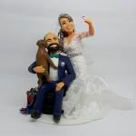 Noiva tirando selfie